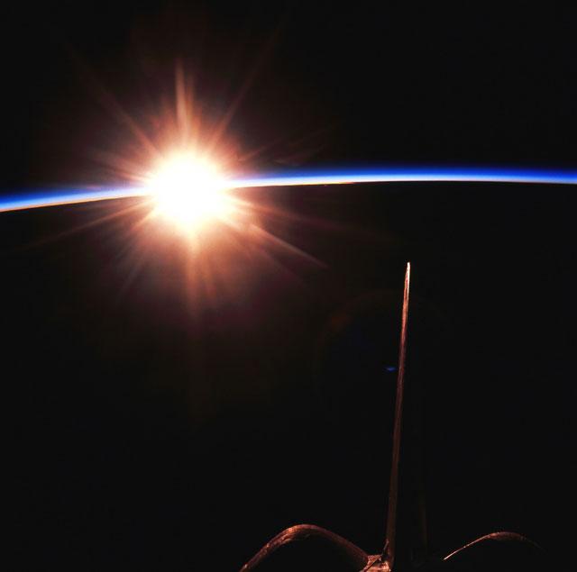 shuttle nasa sunrise - photo #22